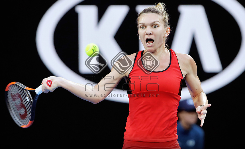 MELBOURNE,AUSTRALIA,27.JAN.18 - TENNIS - WTA World Tour, Grand Slam, Australian Open. Image shows Simona Halep (ROU). Photo: GEPA pictures/ Matthias Hauer / Copyright : explorer-media