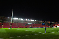 A general view of Parc y Scarlets prior to the match. European Rugby Champions Cup match, between the Scarlets and Bath Rugby on October 20, 2017 at Parc y Scarlets in Llanelli, Wales. Photo by: Patrick Khachfe / Onside Images