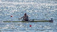 Brandenburg. GERMANY.<br /> NOR LM 1X Ask Jarl TJOEM, , 2016 European Rowing Championships at the Regattastrecke Beetzsee<br /> <br /> Saturday  07/05/2016<br /> <br /> [Mandatory Credit; Peter SPURRIER/Intersport-images]