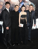 www.acepixs.com<br /> <br /> February 15 2017, LA<br /> <br /> Actor Pedro Pascal, director Zhang Yimou, and actors Jing Tian and Matt Damon arriving at the premiere of 'The Great Wall' at the TCL Chinese Theatre on February 15, 2017 in Hollywood, California. <br /> <br /> By Line: Peter West/ACE Pictures<br /> <br /> <br /> ACE Pictures Inc<br /> Tel: 6467670430<br /> Email: info@acepixs.com<br /> www.acepixs.com