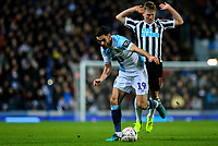 Blackburn Rovers' Ben Brereton gets past Newcastle United's Matt Ritchie<br /> <br /> Photographer Alex Dodd/CameraSport<br /> <br /> Emirates FA Cup Third Round Replay - Blackburn Rovers v Newcastle United - Tuesday 15th January 2019 - Ewood Park - Blackburn<br />  <br /> World Copyright © 2019 CameraSport. All rights reserved. 43 Linden Ave. Countesthorpe. Leicester. England. LE8 5PG - Tel: +44 (0) 116 277 4147 - admin@camerasport.com - www.camerasport.com