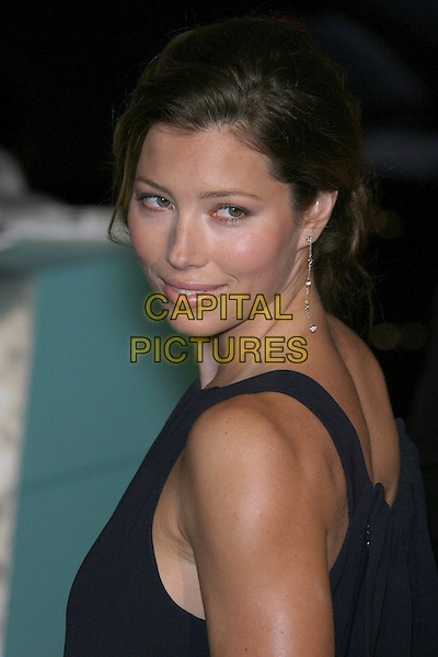 JESSICA BIEL.18th Annual Palm Springs International Film Festival Hosts Star-Studded Awards Gala held at the Palm Springs Convention Center, Palm Springs, California, USA,.6 January 2007..portrait headshot black dress looking back over shoulder.CAP/ADM/ZL.©Zach Lipp/Admedia/Capital Pictures