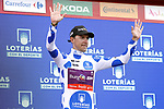 Angel Madrazo Ruiz (ESP) Burgos-BH retains the mountains Polka Dot Jersey at the end of Stage 11 of La Vuelta 2019 running 180km from Saint Palais, France to Urdax-Dantxarinea, Spain. 4th September 2019.<br /> Picture: Luis Angel Gomez/Photogomezsport | Cyclefile<br /> <br /> All photos usage must carry mandatory copyright credit (© Cyclefile | Luis Angel Gomez/Photogomezsport)