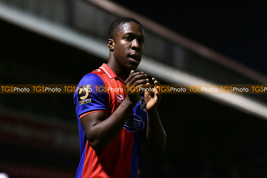 Liam Gordon of Dagenham thanks the fans during Dagenham & Redbridge vs Boreham Wood, Vanarama National League Football at the Chigwell Construction Stadium on 5th January 2019