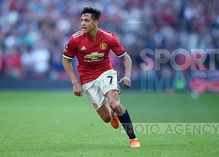 Alexis Sanchez of Manchester United during the FA cup semi-final match at Wembley Stadium, London. Picture date 21st April, 2018. Picture credit should read: Robin Parker/Sportimage