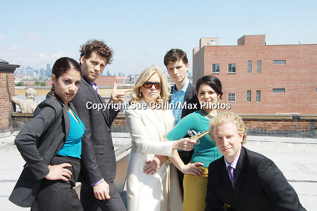 Lise Fisher, Josh Davis, Tina Sloan, Nick Lewis, Annalisa Derr, Chris J. Handley - cast of Empire The Series films on set June 3, 2012  in Brooklyn, New York. (Photo by Sue Coflin/Max Photos)
