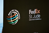 The WGC Fedex St. Jude Invitational signage during the 1st round at the WGC Fedex, TPC Southwinds, Memphis, Tennessee, USA. 25/07/2019.<br /> Picture Ken Murray / Golffile.ie<br /> <br /> All photo usage must carry mandatory copyright credit (© Golffile | Ken Murray)