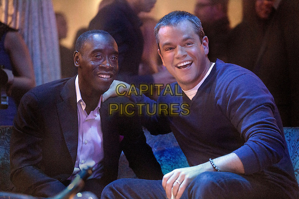 House of Lies (2012)<br /> (Season 2)<br /> Don Cheadle as Marty Kaan and Matt Damon as himself <br /> *Filmstill - Editorial Use Only*<br /> CAP/FB<br /> Image supplied by Capital Pictures