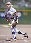 Western Nevada's Carlee Beck pitches in a college softball game against North Idaho College at Edmonds Sports Complex, in Carson City, Nev., on Friday, April 18, 2014.<br /> Photo by Cathleen Allison/Nevada Photo Source