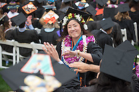 Occidental College Commencement ceremony for the class of 2016, May 15, 2016 in the Remsen Bird Hillside Theater.<br /> (Photo by Marc Campos, Occidental College Photographer)
