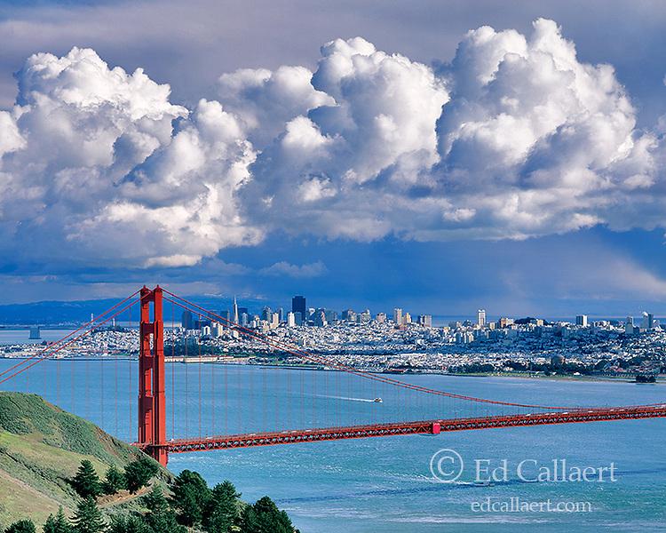 Storm Clouds, Golden Gate Bridge, San Francisco, California
