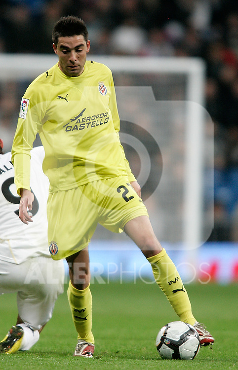 Villareal's Bruno Soriano during La Liga match. February 21, 2010. (ALTERPHOTOS/Alvaro Hernandez).