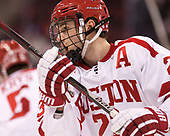 Jakob Forsbacka Karlsson (BU - 23) - The visiting Merrimack College Warriors defeated the Boston University Terriers 4-1 to complete a regular season sweep on Friday, January 27, 2017, at Agganis Arena in Boston, Massachusetts.The visiting Merrimack College Warriors defeated the Boston University Terriers 4-1 to complete a regular season sweep on Friday, January 27, 2017, at Agganis Arena in Boston, Massachusetts.