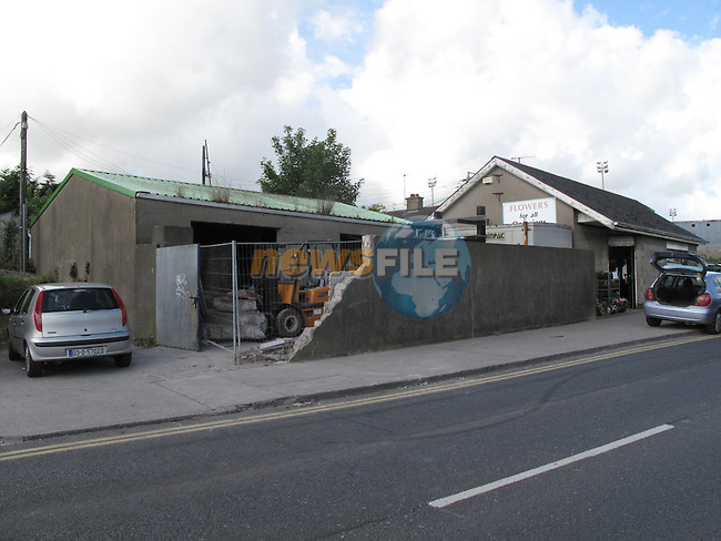 Francis Gogarty's site on the corner of the cross lanes and windmill road where a firklift was drived through a wall.Pic: Fran Caffrey/www.newsfile.ie