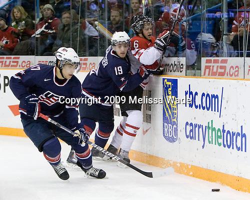 Ryan Bourque (USA - 17), Jordan Schroeder (USA - 19), Ryan Ellis (Canada - 6) - Team Canada defeated Team USA 5-4 (SO) on Thursday, December 31, 2009, at the Credit Union Centre in Saskatoon, Saskatchewan, during the 2010 World Juniors tournament.