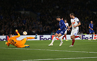 Chelsea's Alvaro Morata with a shot<br /> <br /> Photographer Rob Newell/CameraSport<br /> <br /> UEFA Europa League - Group L - Chelsea v MOL Vidi - Thursday 4th October 2018 - Stamford Bridge - London<br />  <br /> World Copyright © 2018 CameraSport. All rights reserved. 43 Linden Ave. Countesthorpe. Leicester. England. LE8 5PG - Tel: +44 (0) 116 277 4147 - admin@camerasport.com - www.camerasport.com