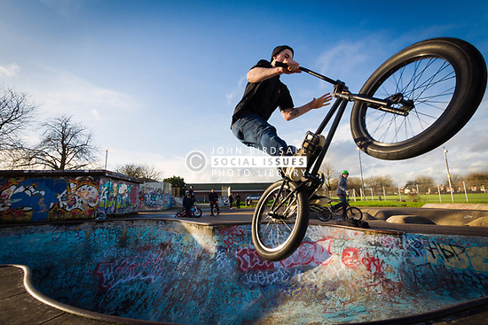 One of the last remaining 70s skateparks, Harrow skateboard park, Byron Park, West London. MR