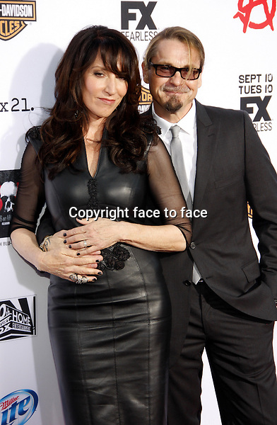 "Katey Sagal and Kurt Sutter at the FX's Season 6 Premiere Screening of ""Sons Of Anarchy"" held at the Dolby Theatre in Hollywood on September 7, 2013 in Los Angeles, California. Credit: PopularImages/face to face"