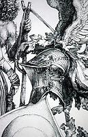 Visual Arts:  Albrecht Durer--Coat-of-Arms, detail.