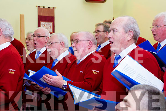 Killorglin Mens Choir performing  at the Carol service in St Michaels church Killorglin on Sunday night