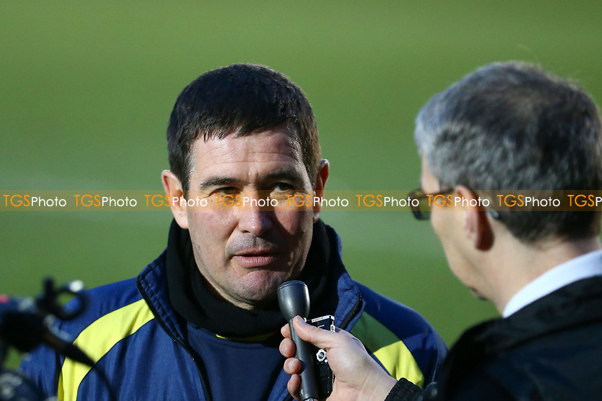 Burton Albion manager Nigel Clough talks to the press after  AFC Wimbledon vs Burton Albion, Sky Bet EFL League 1 Football at the Cherry Red Records Stadium on 9th February 2019