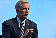 Washington, DC - March 5, 2018: U.S. Representative Kevin McCarthy addresses attendees of the 2018 American Israel Public Affairs Committee (AIPAC) Policy Conference at the Washington Convention Center March 5, 2018.  (Photo by Don Baxter/Media Images International)
