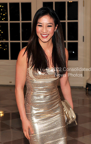 Michelle Kwan arrives for the State Dinner in honor of President Hu Jintao of China at the White House In Washington, D.C. on Wednesday, January 19, 2011. .Credit: Ron Sachs / CNP.(RESTRICTION: NO New York or New Jersey Newspapers or newspapers within a 75 mile radius of New York City)