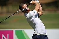 Estanislao Goya (ARG) thwacks one down the 4th during the practice day ahead of the Tshwane Open 2015 at the Pretoria Country Club, Waterkloof, Pretoria, South Africa. Picture:  David Lloyd / www.golffile.ie. 10/03/2015