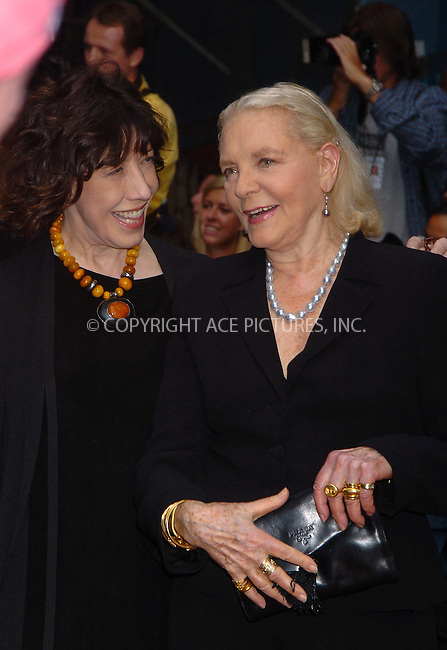 "WWW.ACEPIXS.COM . . . . . ....JUNE 4 2006, New York City....Lily Tomlin and Lauren Bacall arriving at the New York Premiere of ""A Prairie Home Companion"" at the DGA Theatre....Please byline:AJ SOKALNER - ACEPIXS.COM.. . . . . . ..Ace Pictures, Inc:  ..(212) 243-8787 or (646) 679 0430..e-mail: picturedesk@acepixs.com..web: http://www.acepixs.com"
