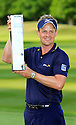 Luke Donald (ENG) poses with the trophy after the final round of the BMW PGA Championship played on the West Course, Wentworth Club, Virginia Water, Surrey, England 24 - 27 May 2012. (Picture Credit / Phil Inglis)