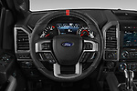 Car pictures of steering wheel view of a 2018 Ford F-150 Raptor 4 Door Pick Up
