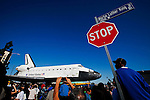 Thousands of LA residents lined the streets of South Los Angeles to watch the Space Shuttle Endeavour makes it's final journey home to the California Science Center. The three day trek across LA finally came to an end mid-afternoon Sunday.