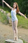 A Bat Mitzvah girl's ballet photo shoot in Rockefeller Preserve..