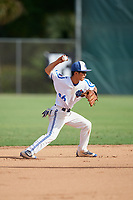 Jason Chiu during the WWBA World Championship at the Roger Dean Complex on October 18, 2018 in Jupiter, Florida.  Jason Chiu is a shortstop from Scarborough, Ontario who attends Albert Campbell Collegiate Institute.  (Mike Janes/Four Seam Images)