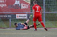 Torwart Sinan Liberati (Büttelborn) hält - Büttelborn 15.05.2019: SKV Büttelborn vs. Kickers Offenbach, A-Junioren, Hessenpokal Halbfinale