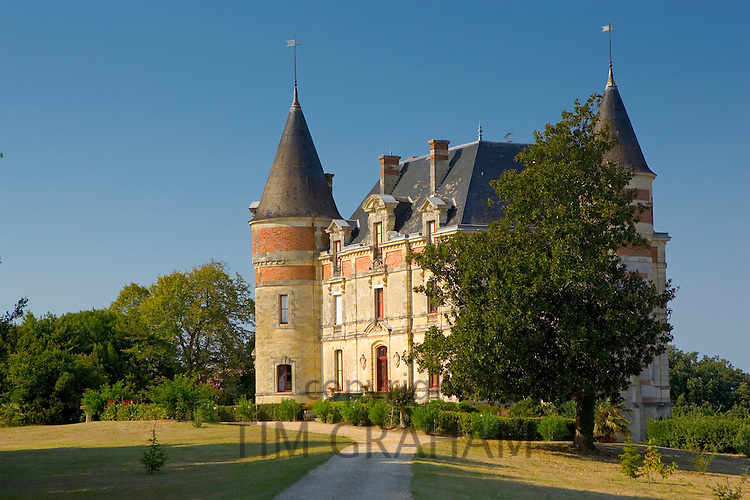 Chateau in Sauternes, France.