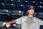 Justin Childres, pitcher for the Durham Bulls, DBAP, Aug. 20, 2009.