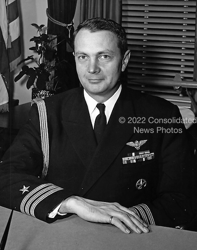 United States Government release of the official portrait of US Navy Captain Tazewell T. Shepard Jr., naval aide to US President John F. Kennedy, in Washington, DC on April 27, 1961.<br /> Credit: White House via CNP