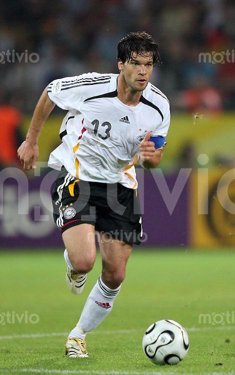 Fussball WM 2006  Gruppenspiel  Vorrunde Deutschland - Polen Michael Ballack (GER)