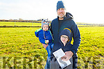 The O'Sullivan family from Ballyduff enjoying the coursing on Sunday. L-r, Finn, Patrick and Luke O'Sullivan