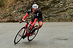 Jarlinson Pantano (COL) Trek-Segafredo in action during a wet miserable Stage 7 of the 2018 Paris-Nice running 175km from Nice to Valdeblore la Colmiane, France. 10th March 2018.<br /> Picture: ASO/Alex Broadway | Cyclefile<br /> <br /> <br /> All photos usage must carry mandatory copyright credit (&copy; Cyclefile | ASO/Alex Broadway)