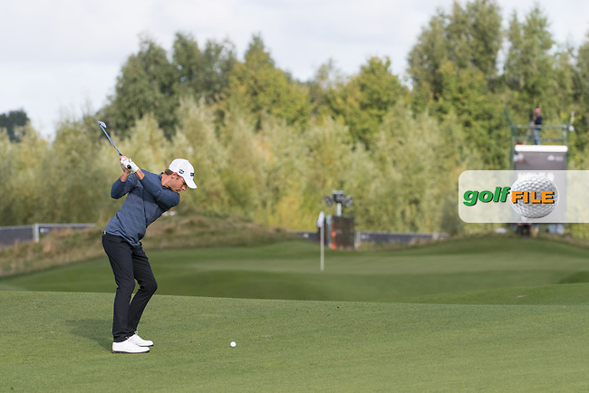 Joakim Lagergreen (SWE) in action on the 9th hole during the 2nd round at the KLM Open, The International, Amsterdam, Badhoevedorp, Netherlands. 13/09/19.<br /> Picture Stefano Di Maria / Golffile.ie<br /> <br /> All photo usage must carry mandatory copyright credit (© Golffile | Stefano Di Maria)