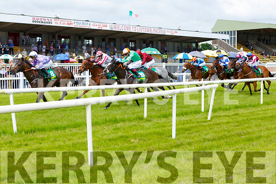 Action from the Listowel Races on Sunday.