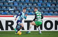 Dominic Gape of Wycombe Wanderers with Kevin Dawson of Yeovil Town during the Sky Bet League 2 match between Wycombe Wanderers and Yeovil Town at Adams Park, High Wycombe, England on 14 January 2017. Photo by Andy Rowland / PRiME Media Images.