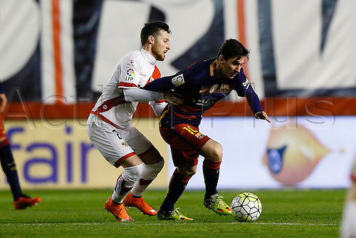 03.03.2016. Madrid, Spain.  Lionel Andres Messi (10) FC Barcelona. La Liga match between Rayo Vallecano and FC Barcelona at the Vallecas stadium in Madrid, Spain