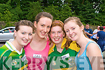 Rebecca Nagle, Grainne Dineen, Marie O'Doherty and Julia McCarthy were all smiles at the Killarney Summerfest Fun Run on Friday evening.....