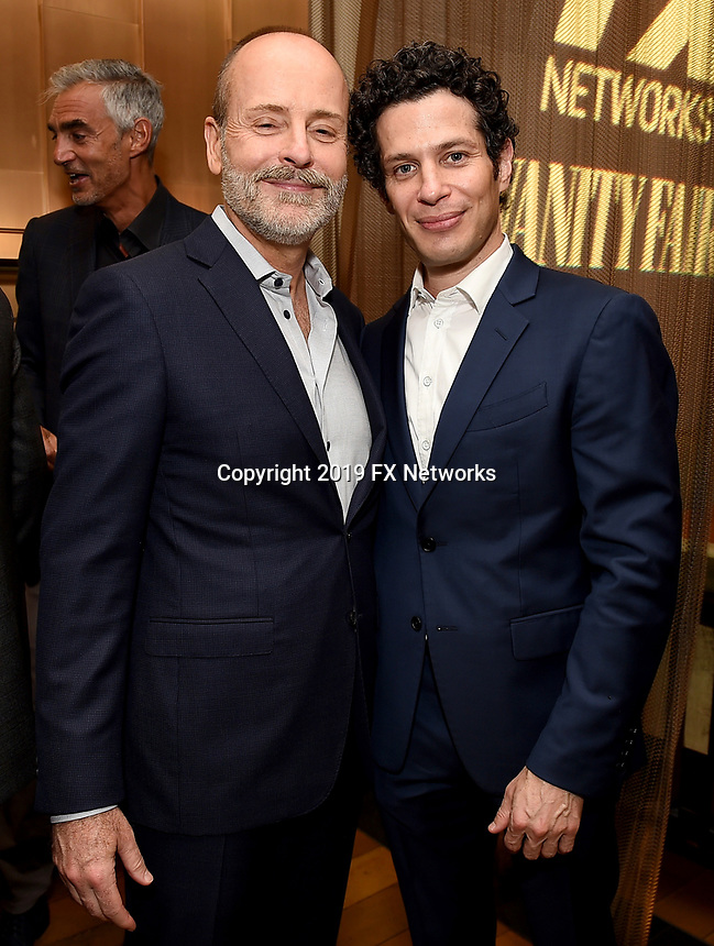 LOS ANGELES - SEPTEMBER 21: (L-R) John Landgraf, Chairman, FX Networks & FX Productions, and Thomas Kail attend the FX Networks & Vanity Fair Pre-Emmy Party at Craft LA on September 21, 2019 in Los Angeles, California. (Photo by Frank Micelotta/FX/PictureGroup)