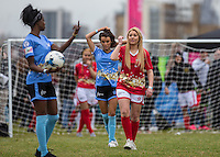 ELLIE YOUNG(IBIZA WEEKENDER) during the SOCCER SIX Celebrity Football Event at the Queen Elizabeth Olympic Park, London, England on 26 March 2016. Photo by Andy Rowland.