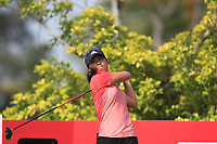 Danielle Kang (USA) in action on the 3rd during Round 3 of the HSBC Womens Champions 2018 at Sentosa Golf Club on the Saturday 3rd March 2018.<br /> Picture:  Thos Caffrey / www.golffile.ie<br /> <br /> All photo usage must carry mandatory copyright credit (&copy; Golffile | Thos Caffrey)