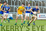 Jack McGuire Kerry in action against Jason Scully Meath in the All Ireland Junior Football Final at O'Moore Park, Portlaoise on Saturday.